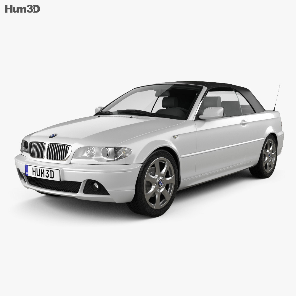 BMW 3 Series convertible (E46) 2004 3d model