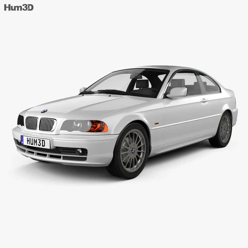 bmw 3 series coupe e46 2004 3d model hum3d. Black Bedroom Furniture Sets. Home Design Ideas