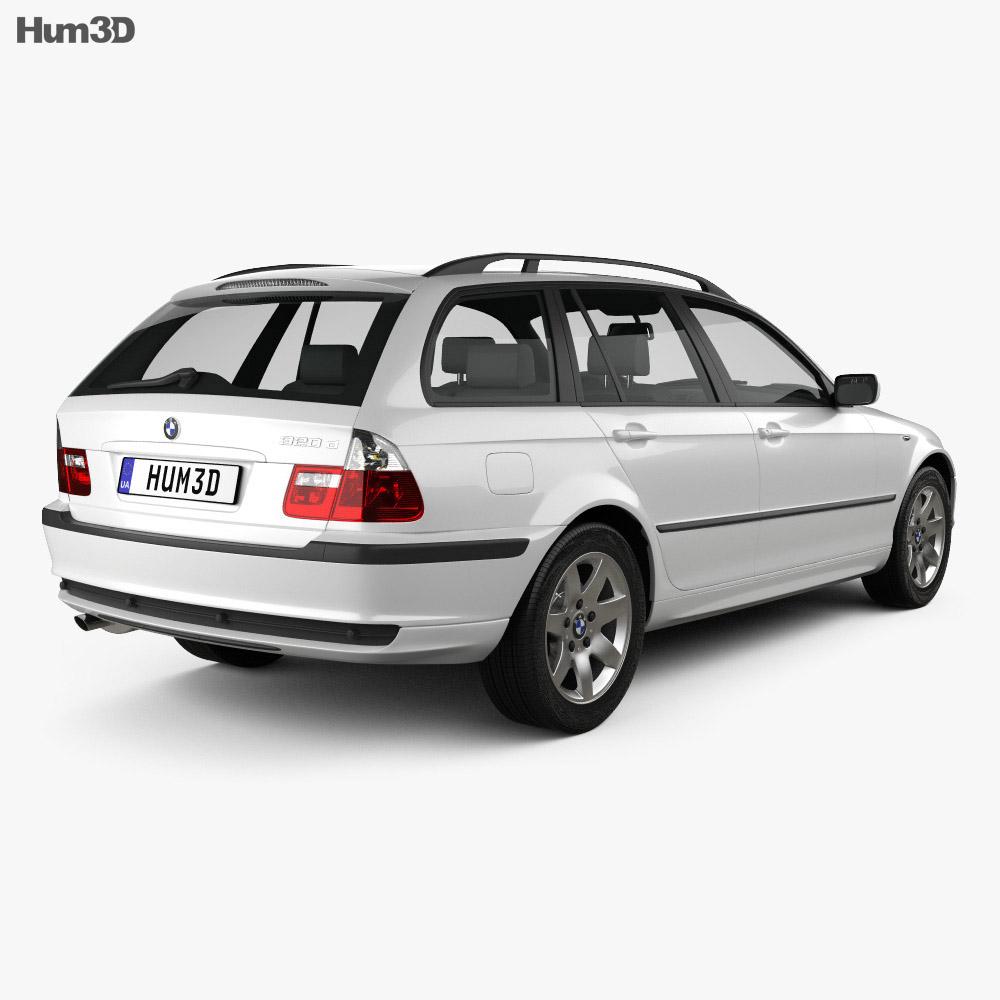 BMW 3 Series touring (E46) 2001 3d model
