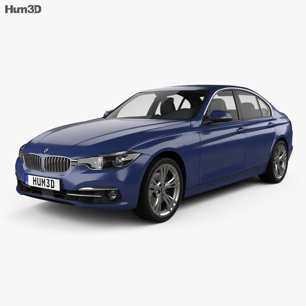 bmw 3 series f30 sport line 2015 3d model humster3d. Black Bedroom Furniture Sets. Home Design Ideas