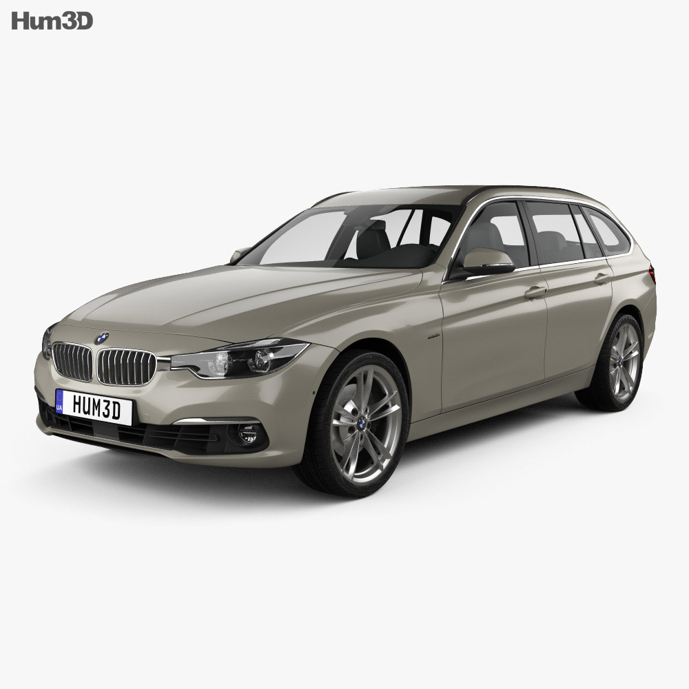 bmw 3 series f31 touring luxury line 2015 3d model humster3d. Black Bedroom Furniture Sets. Home Design Ideas