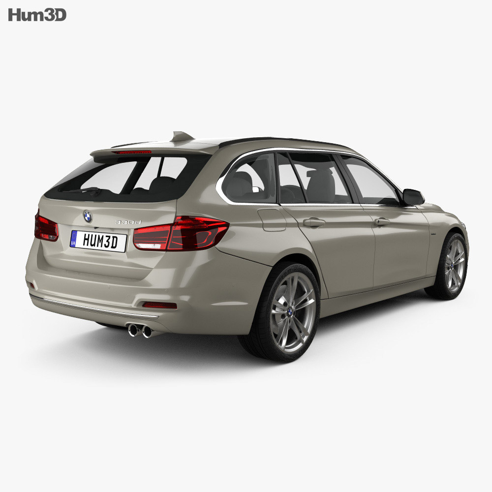 bmw 3 series f31 touring luxury line 2015 3d model. Black Bedroom Furniture Sets. Home Design Ideas