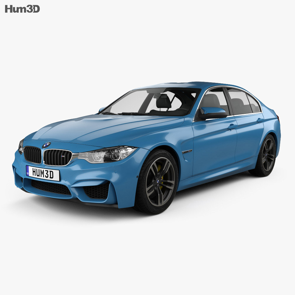 bmw m3 (f80) sedan 2014 3d model - vehicles on hum3d