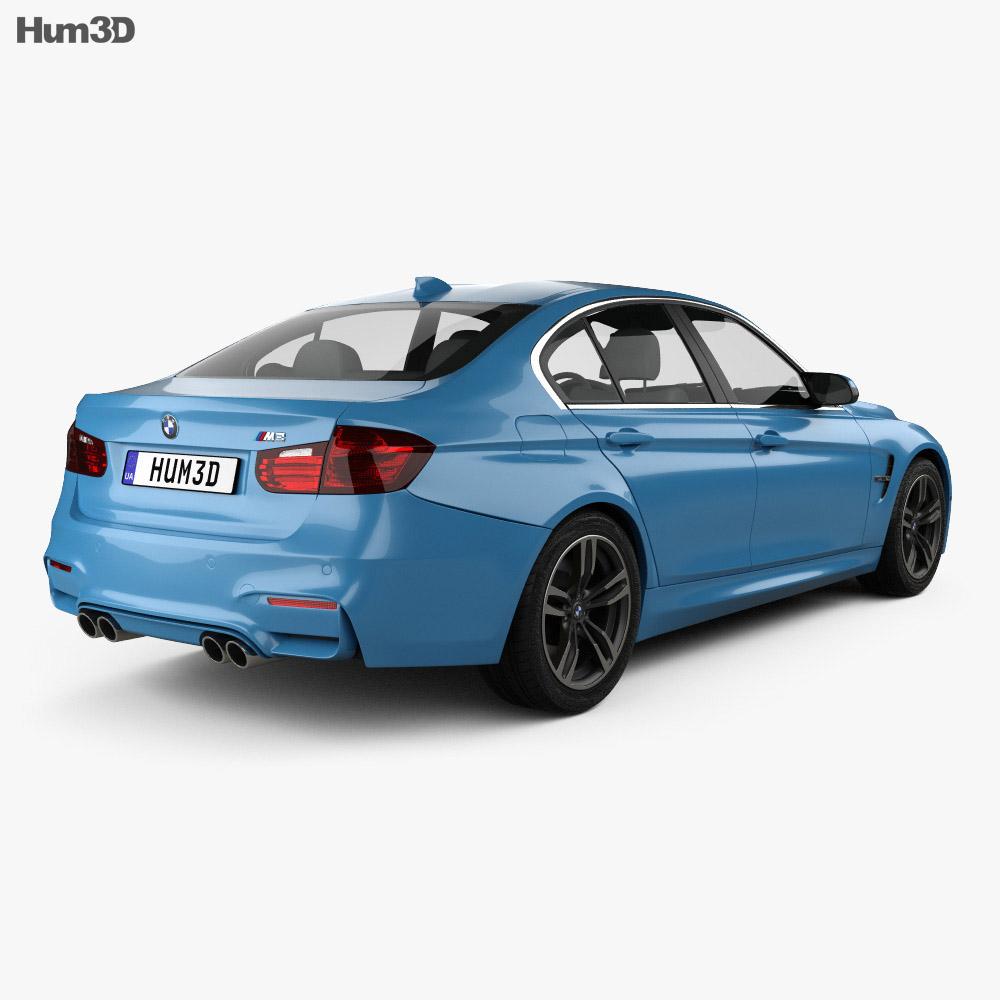 BMW M3 (F80) sedan 2014 3d model