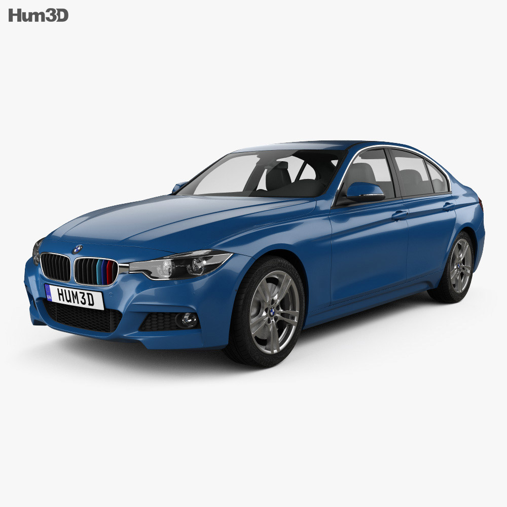 bmw 3 series f30 m sport 2015 3d model hum3d. Black Bedroom Furniture Sets. Home Design Ideas