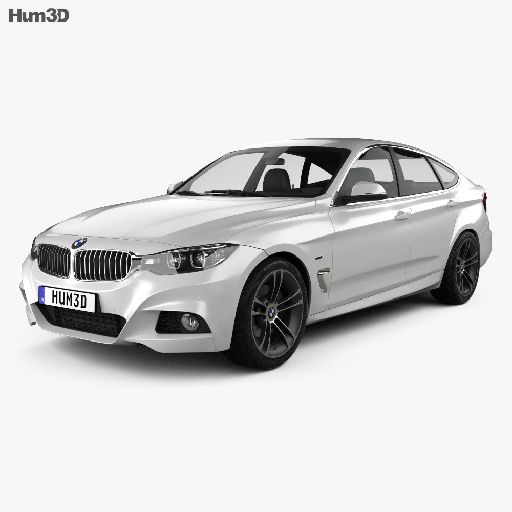 bmw 3 series gran turismo m sport 2018 3d model hum3d. Black Bedroom Furniture Sets. Home Design Ideas