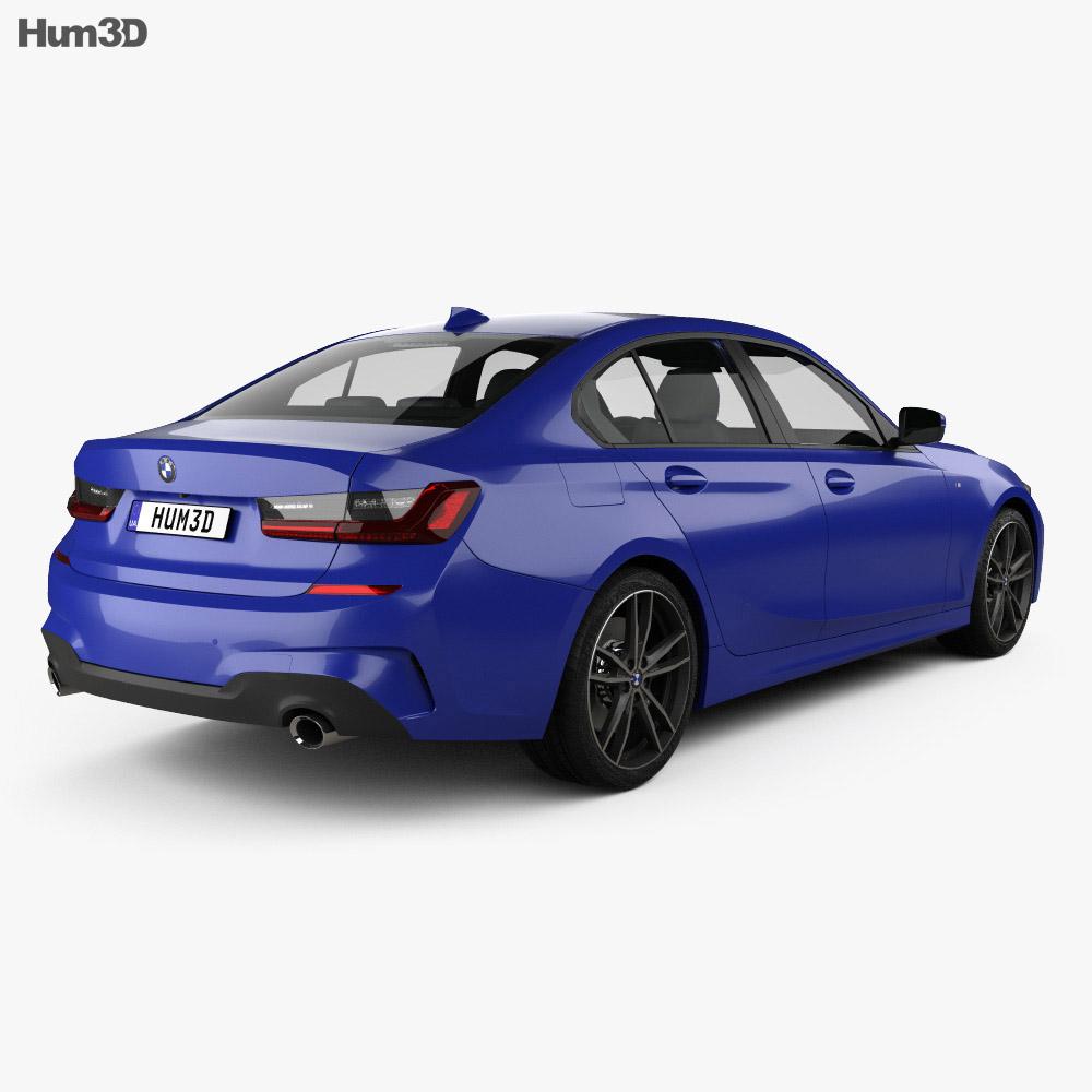 BMW 3 Series M-Sport sedan with HQ interior 2019 3d model