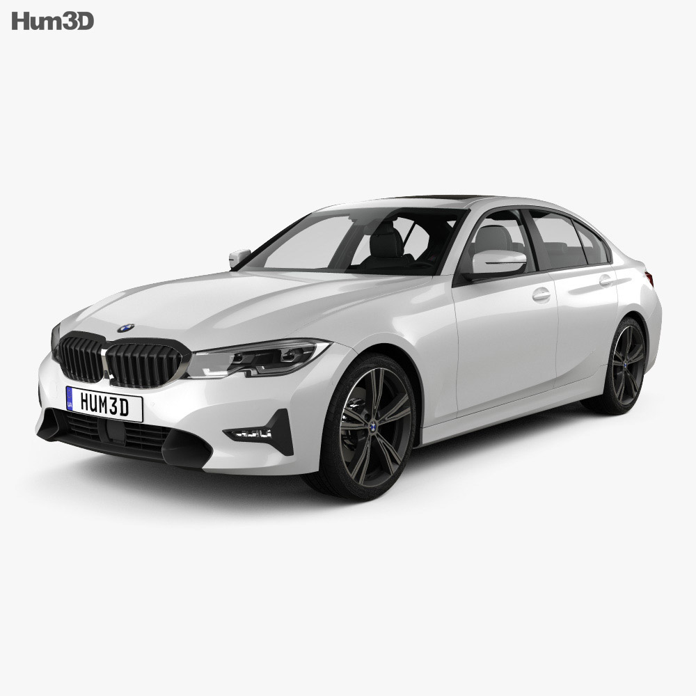Bmw Sport: BMW 3 Series Sport Line Sedan With HQ Interior 2019 3D