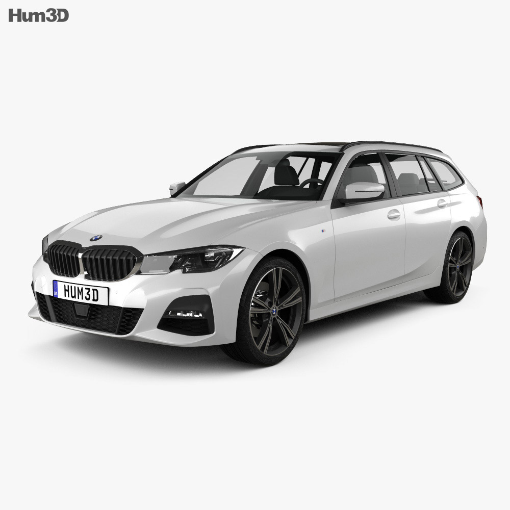 Bmw Sport: BMW 3 Series (G21) M-Sport Touring 2019 3D Model
