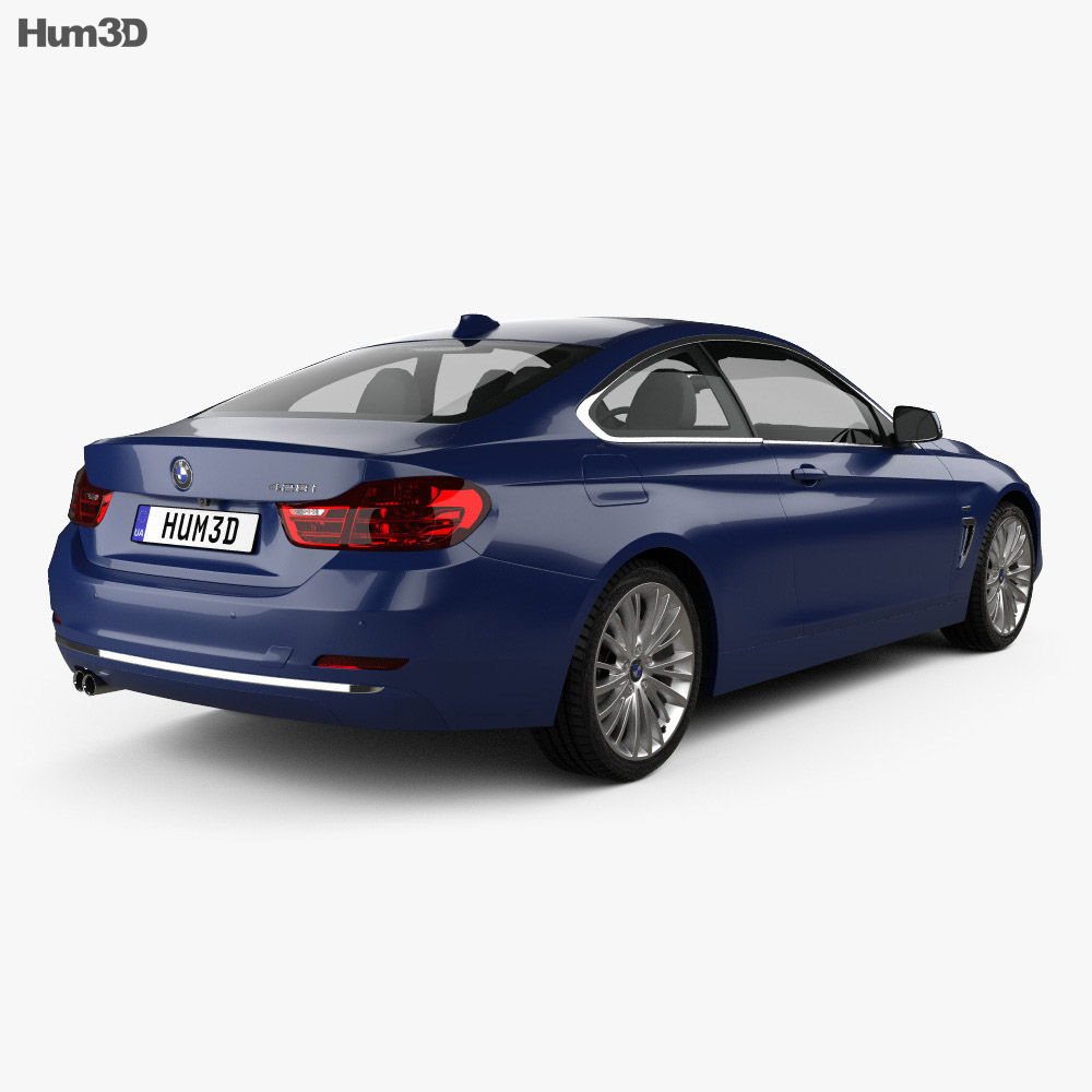 BMW 4 Series (F32) Coupe Luxury Line 2013 3d model