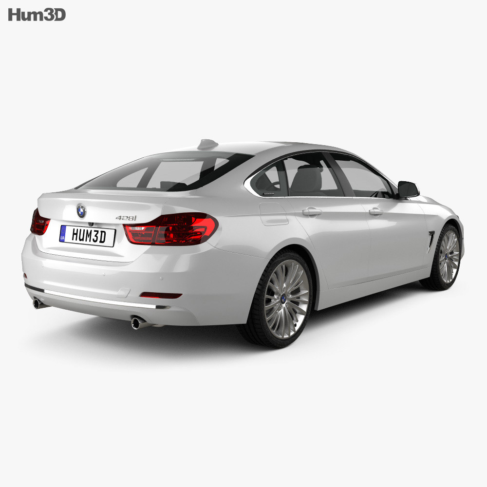 BMW 4 Series (F36) GranCoupe LuxuryLine US-spec 2014 3d model
