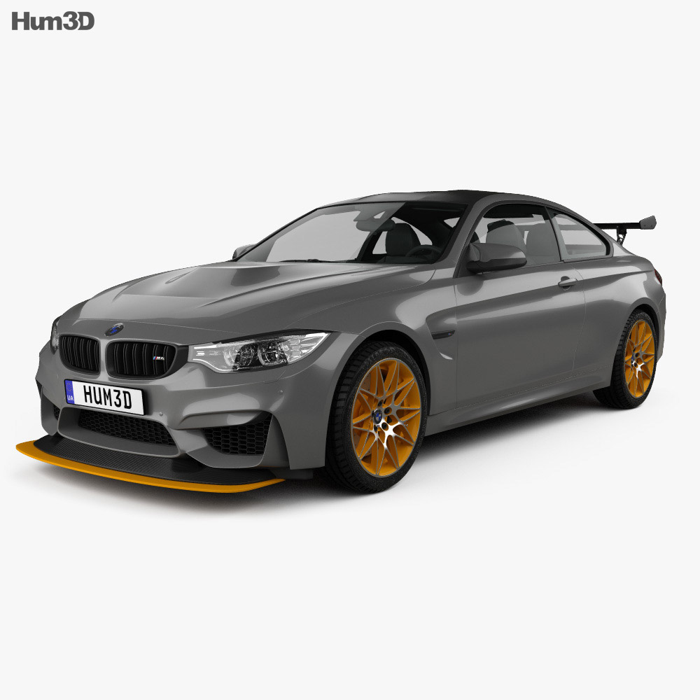 bmw m4 gts concept 2015 3d model humster3d. Black Bedroom Furniture Sets. Home Design Ideas