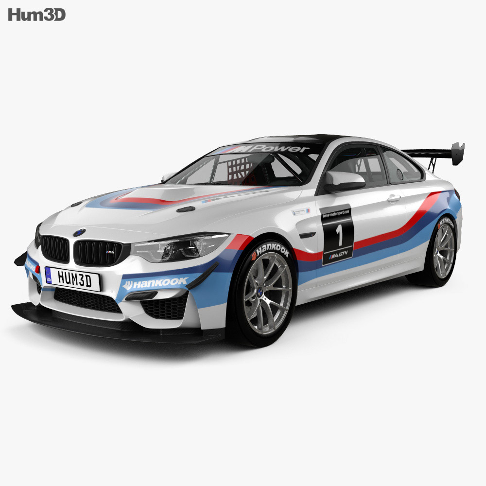 BMW Convertible bmw m3 gt4 BMW M4 (F82) GT4 coupe 2017 3D model - Hum3D