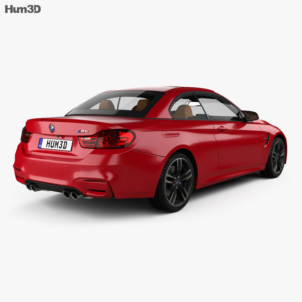 BMW M4 (F83) convertible with HQ interior 2014 3d model