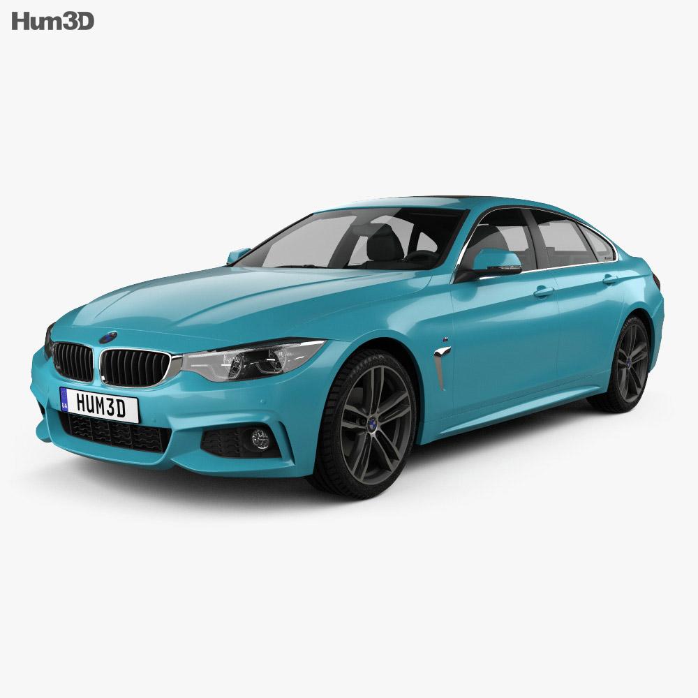 BMW 4 Series (F36) M-sport Gran Coupe 2017 3d model