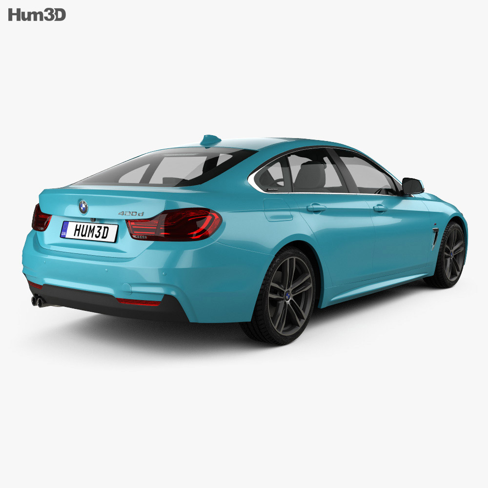 Bmw 4: BMW 4 Series (F36) M-sport Gran Coupe 2017 3D Model