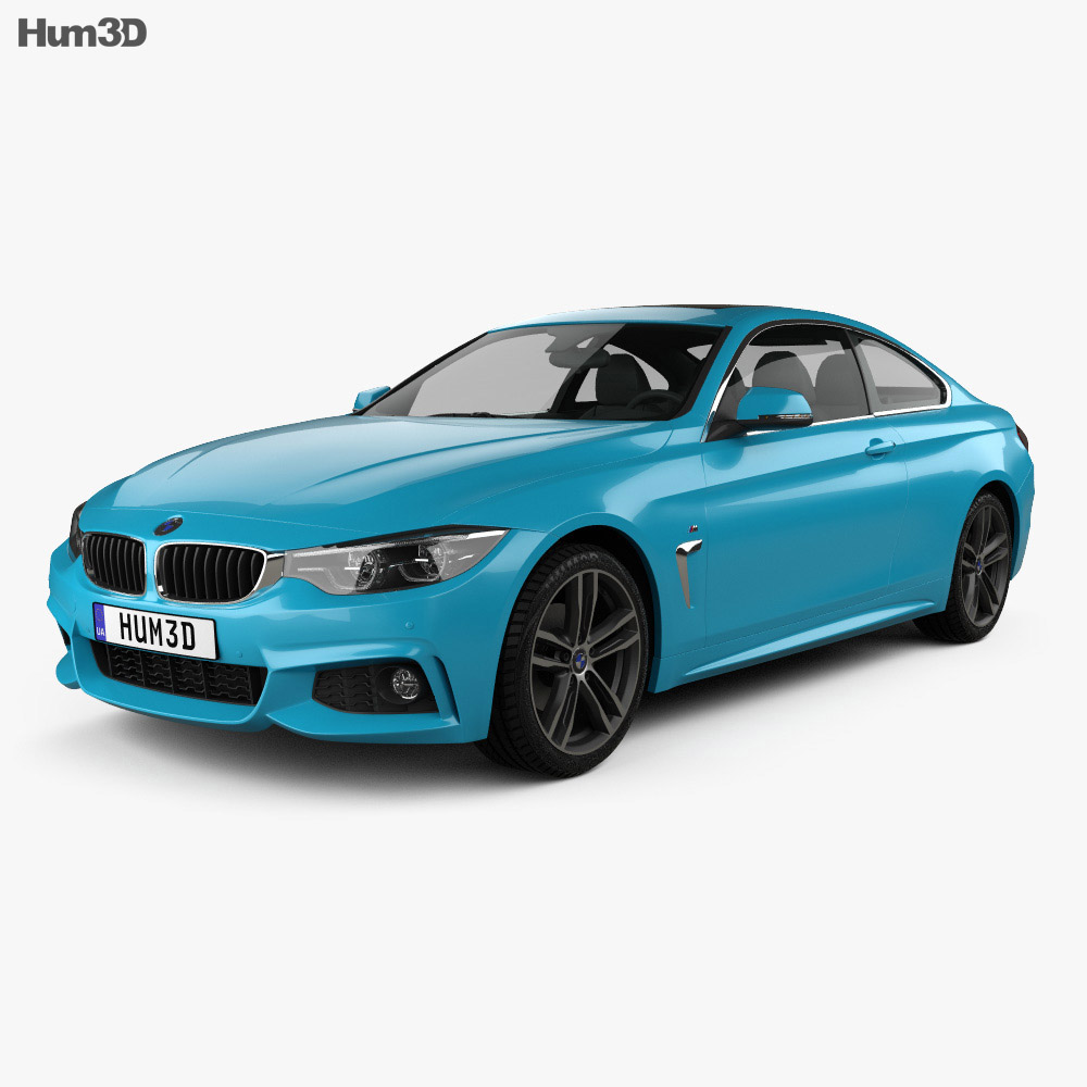 BMW 4 Series (F82) M-sport coupe 2017 3d model
