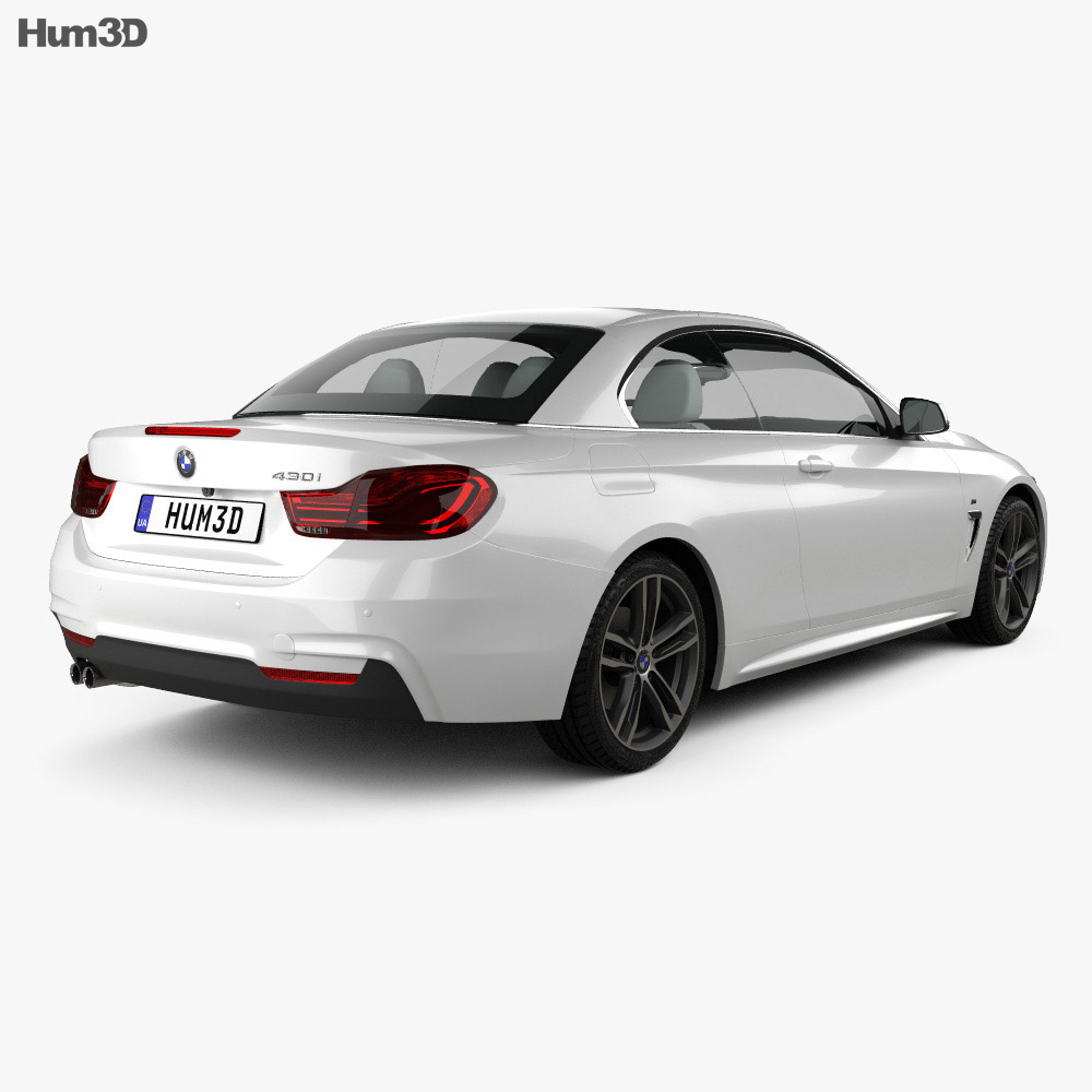 BMW 4 Series (F83) M-sport convertible 2017 3d model