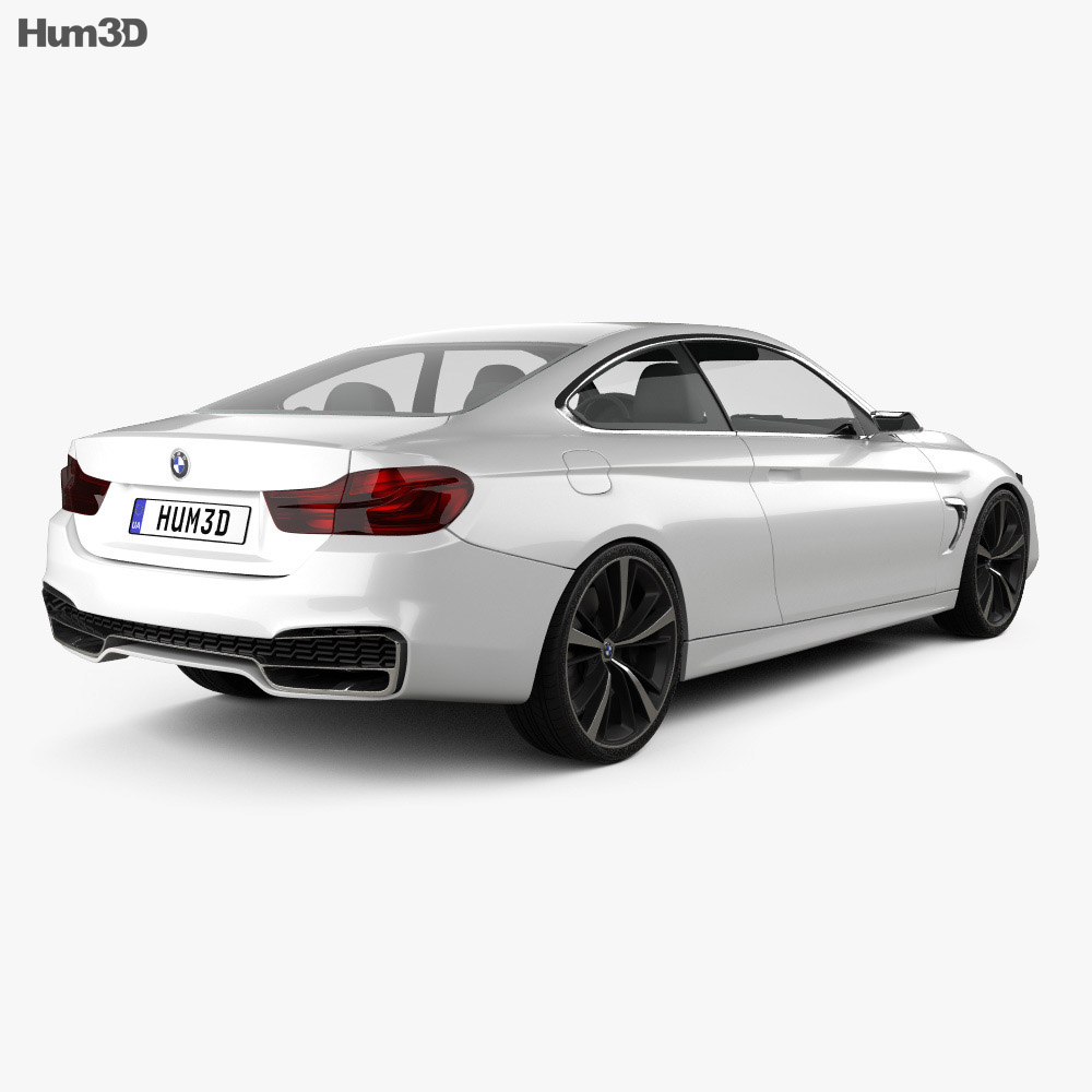Bmw 4: BMW 4 Series Coupe Concept 2013 3D Model