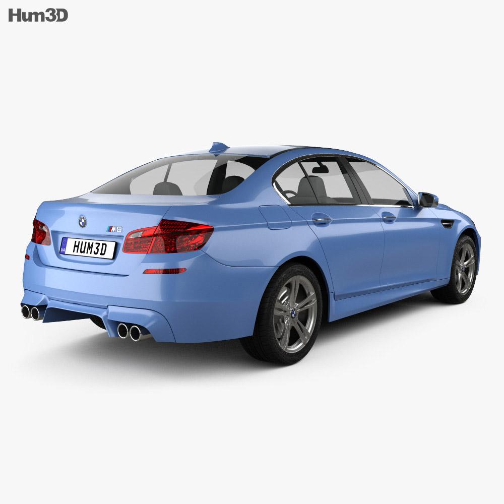 BMW M5 sedan (F10) 2012 3d model