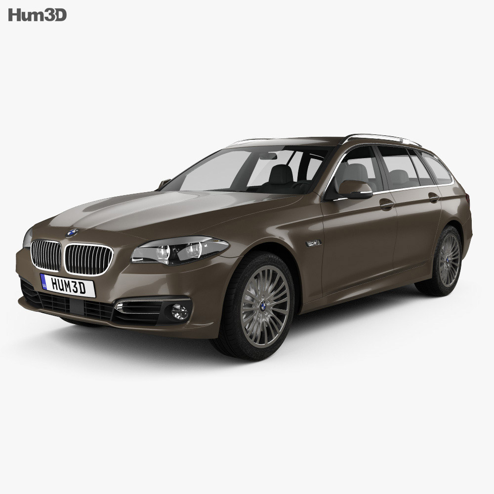 BMW 5 Series (F11) touring 2014 3d model