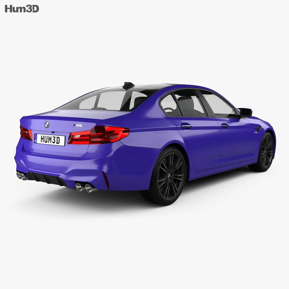 BMW M5 sedan 2017 3d model