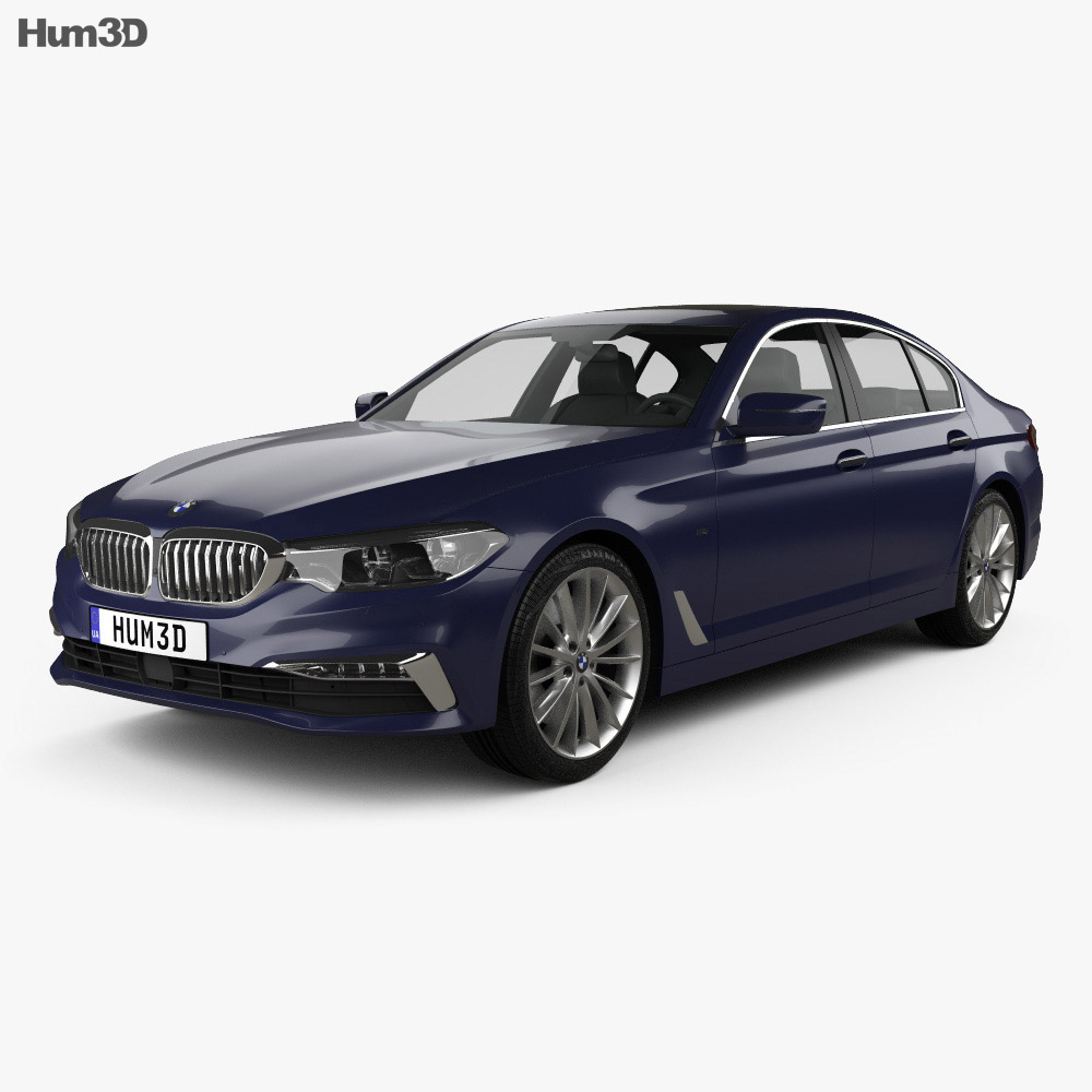 bmw 5 series g30 luxury line 2017 3d model hum3d. Black Bedroom Furniture Sets. Home Design Ideas