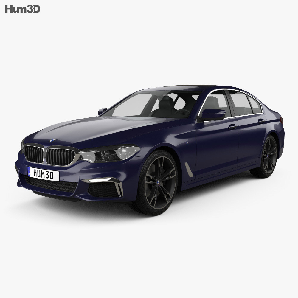 bmw 5 series g30 m performance 2017 3d model hum3d. Black Bedroom Furniture Sets. Home Design Ideas