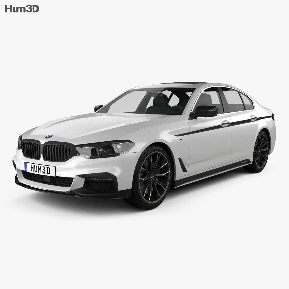 bmw 5 series g30 m performance parts 2017 3d model hum3d. Black Bedroom Furniture Sets. Home Design Ideas
