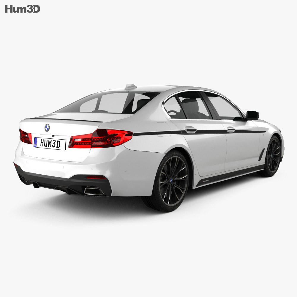 BMW 5 Series (G30) M Performance Parts 2017 3D Model