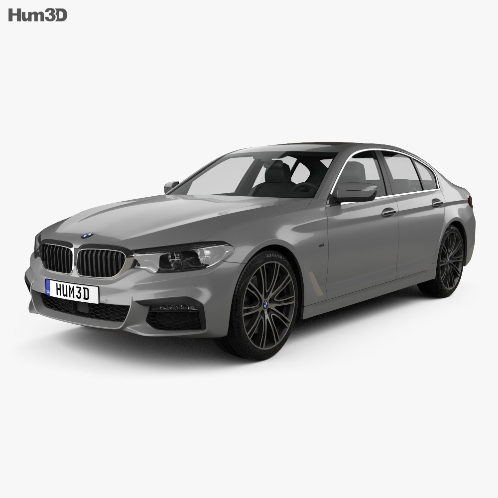 bmw 5 series g30 m sport 2017 3d model vehicles on hum3d. Black Bedroom Furniture Sets. Home Design Ideas