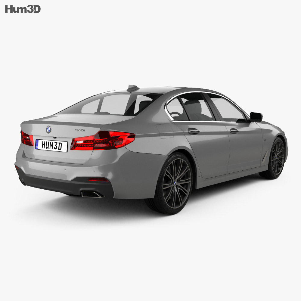 bmw 5 series g30 m sport 2017 3d model hum3d. Black Bedroom Furniture Sets. Home Design Ideas
