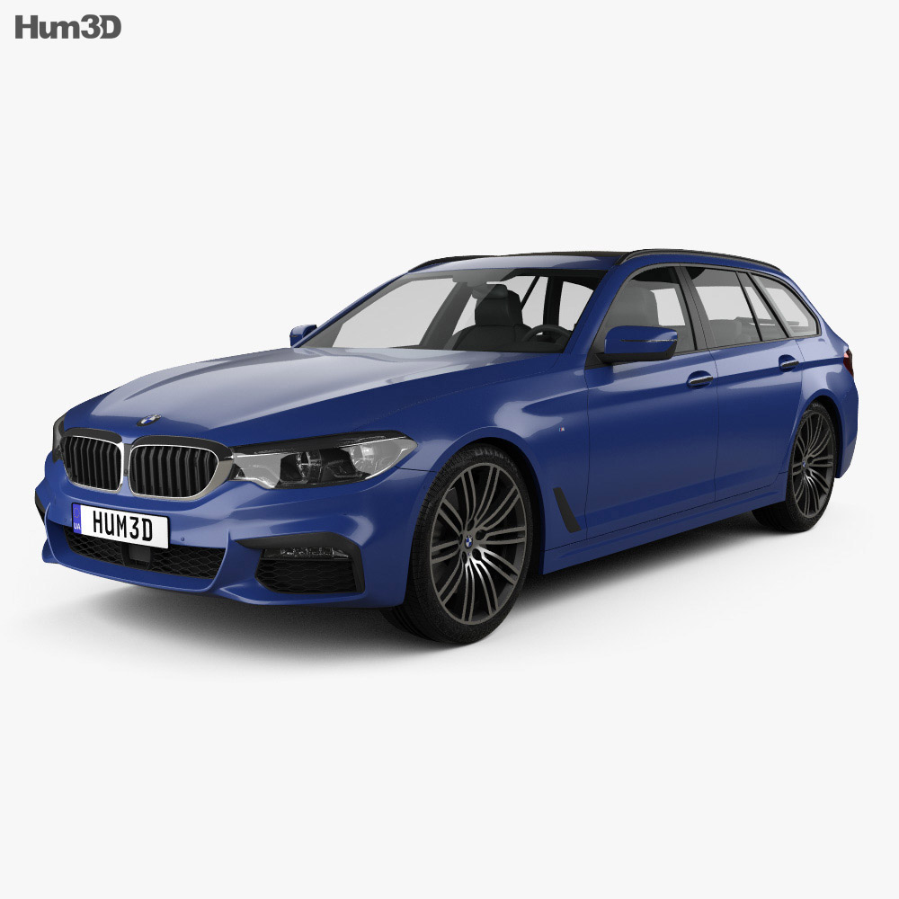 bmw 5 series g31 touring m sport 2017 3d model hum3d. Black Bedroom Furniture Sets. Home Design Ideas