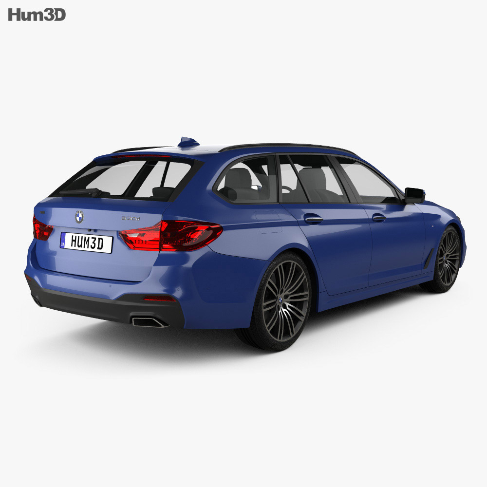 BMW 5 Series G31 Touring M-Sport 2017 3D Model