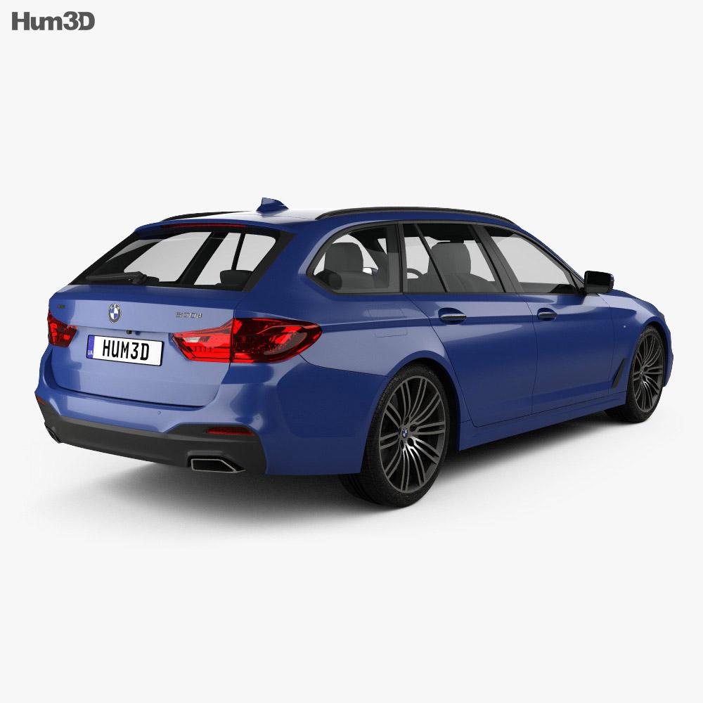 BMW 5 Series G31 Touring M-Sport 2017 3D Model