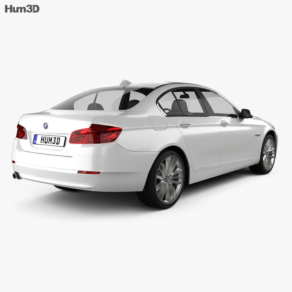 BMW 5 series sedan 2011 3d model