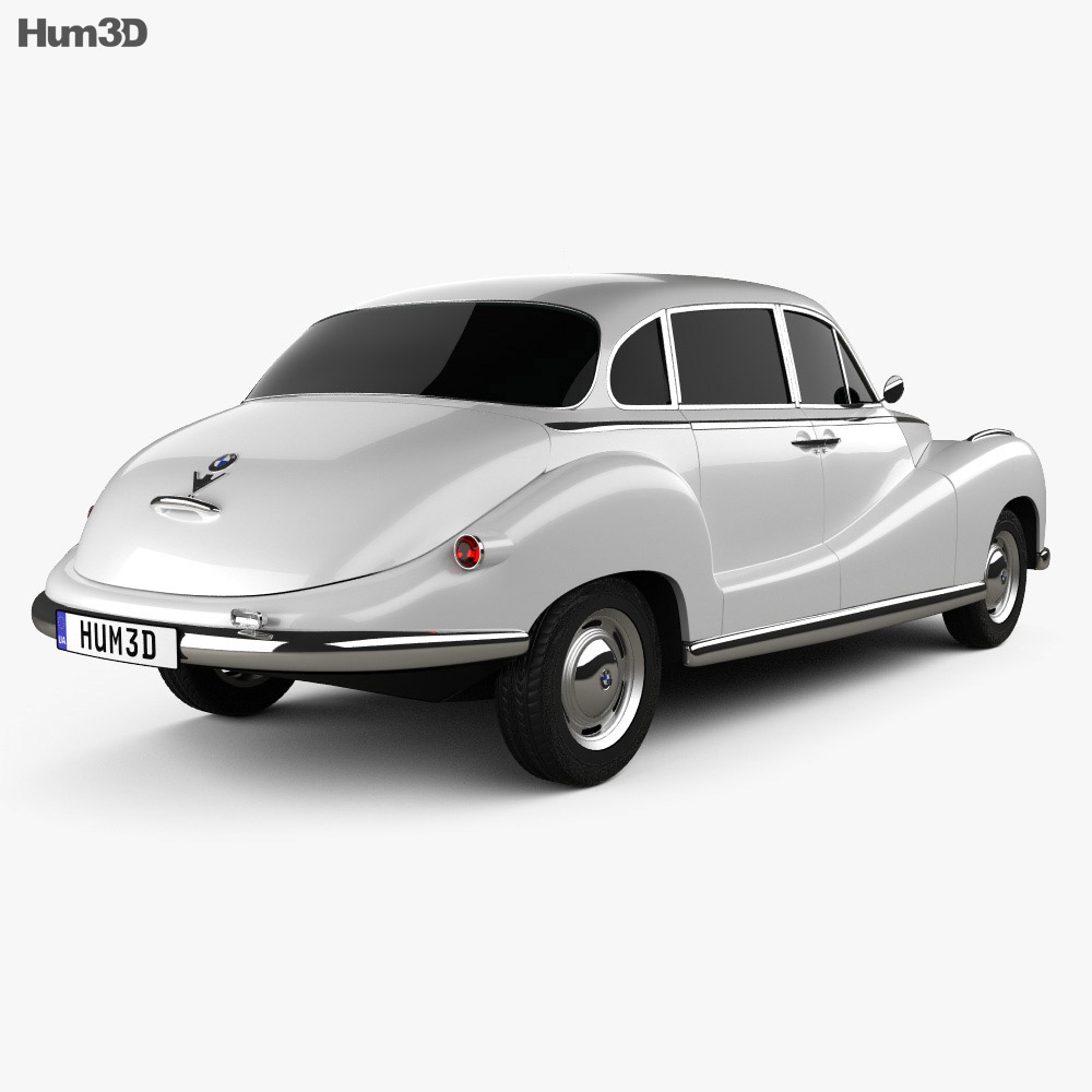 BMW 501 Saloon 1952 3d model