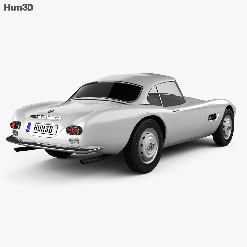 BMW 507 coupe 1959 3d model