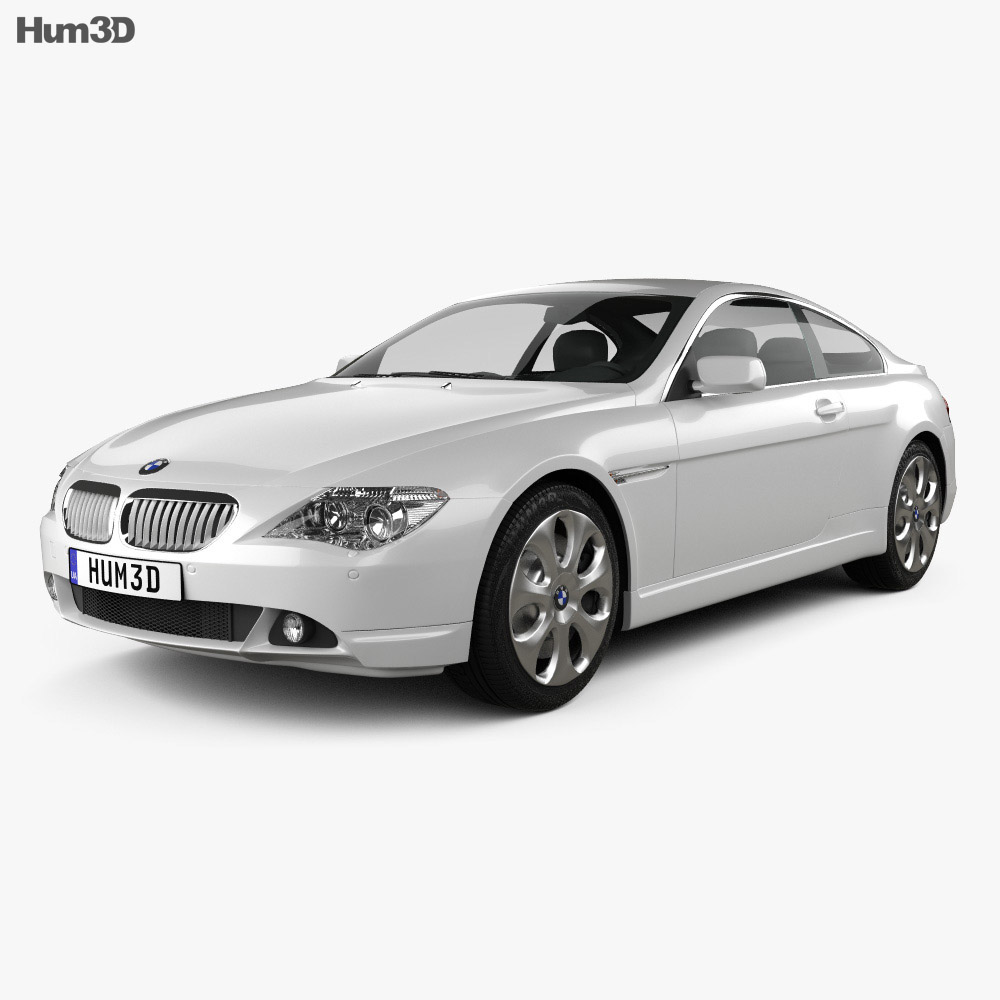 bmw 6 series e63 coupe 2004 3d model vehicles on hum3d. Black Bedroom Furniture Sets. Home Design Ideas