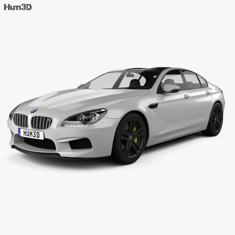 BMW M6 Gran Coupe (F06) 2013 3d model