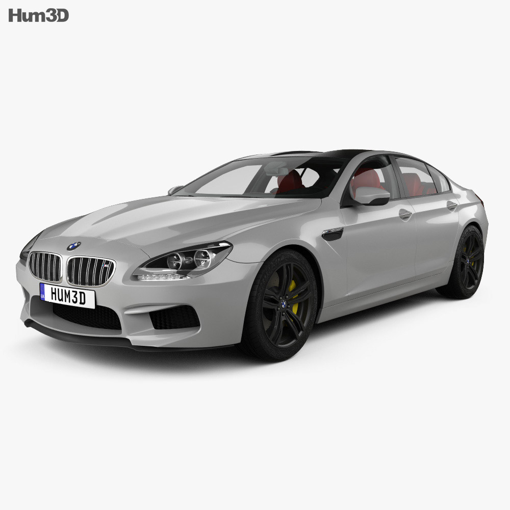 BMW M6 Gran Coupe (F06) with HQ interior 2013 3d model