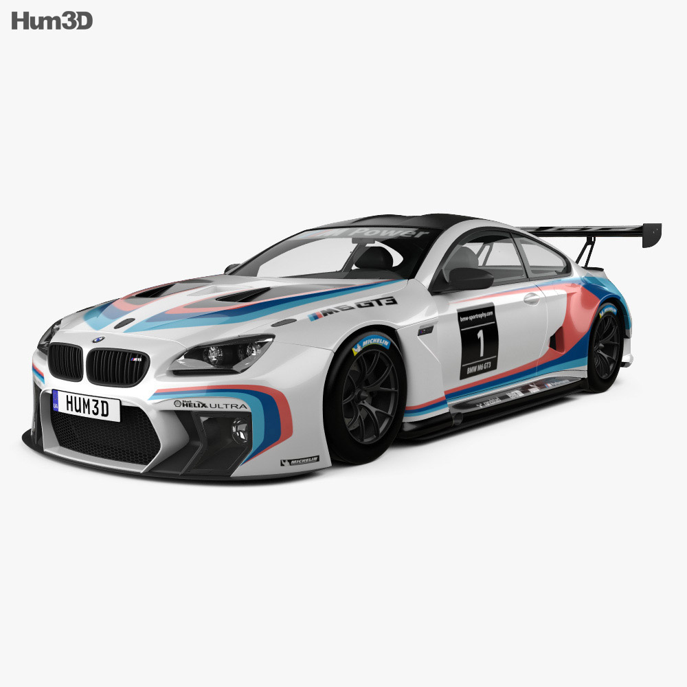 BMW M6 (F13) Coupe GT3 2016 3d model
