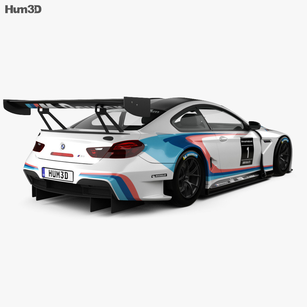 Bmw M6: BMW M6 (F13) Coupe GT3 2016 3D Model