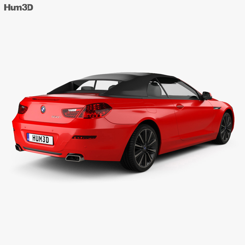BMW 6 Series (F12) Convertible 2015 3D Model