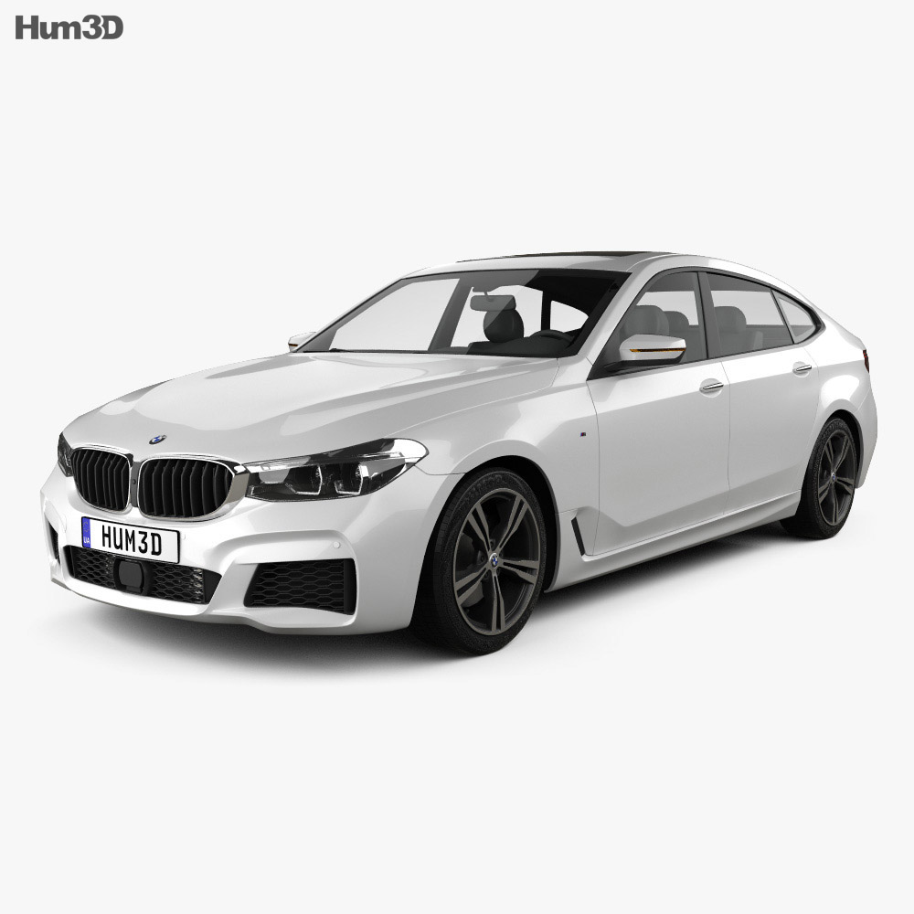 bmw 6 series g32 gran turismo m sport 2017 3d model hum3d. Black Bedroom Furniture Sets. Home Design Ideas