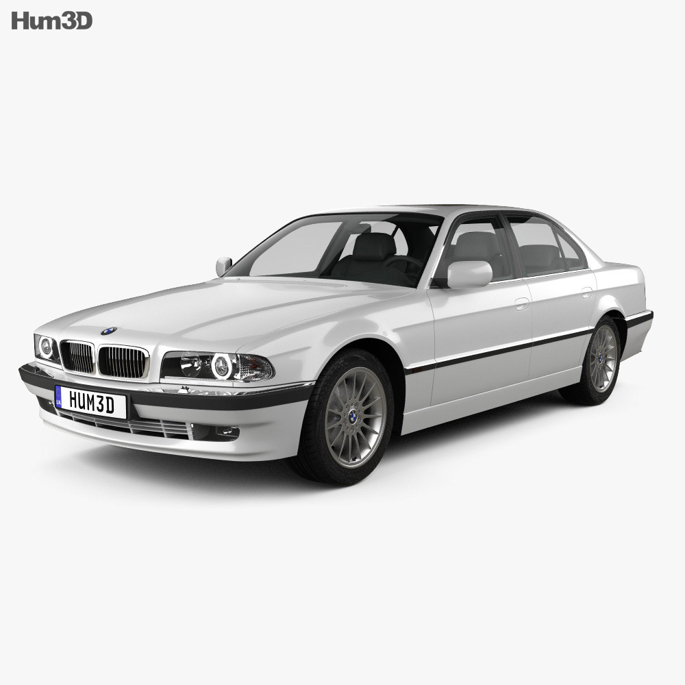 bmw 7 series e38 1998 3d model vehicles on hum3d. Black Bedroom Furniture Sets. Home Design Ideas