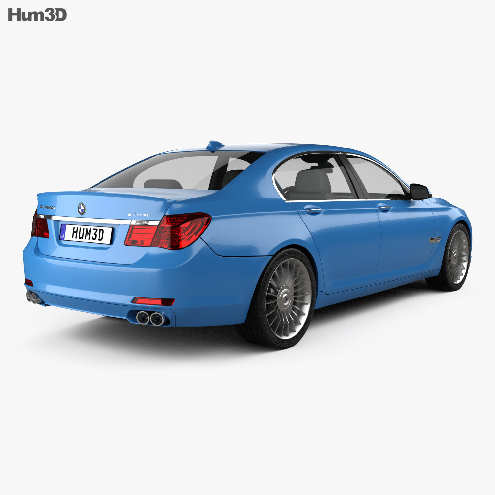 BMW 7 Series B7 Alpina 2011 3d model
