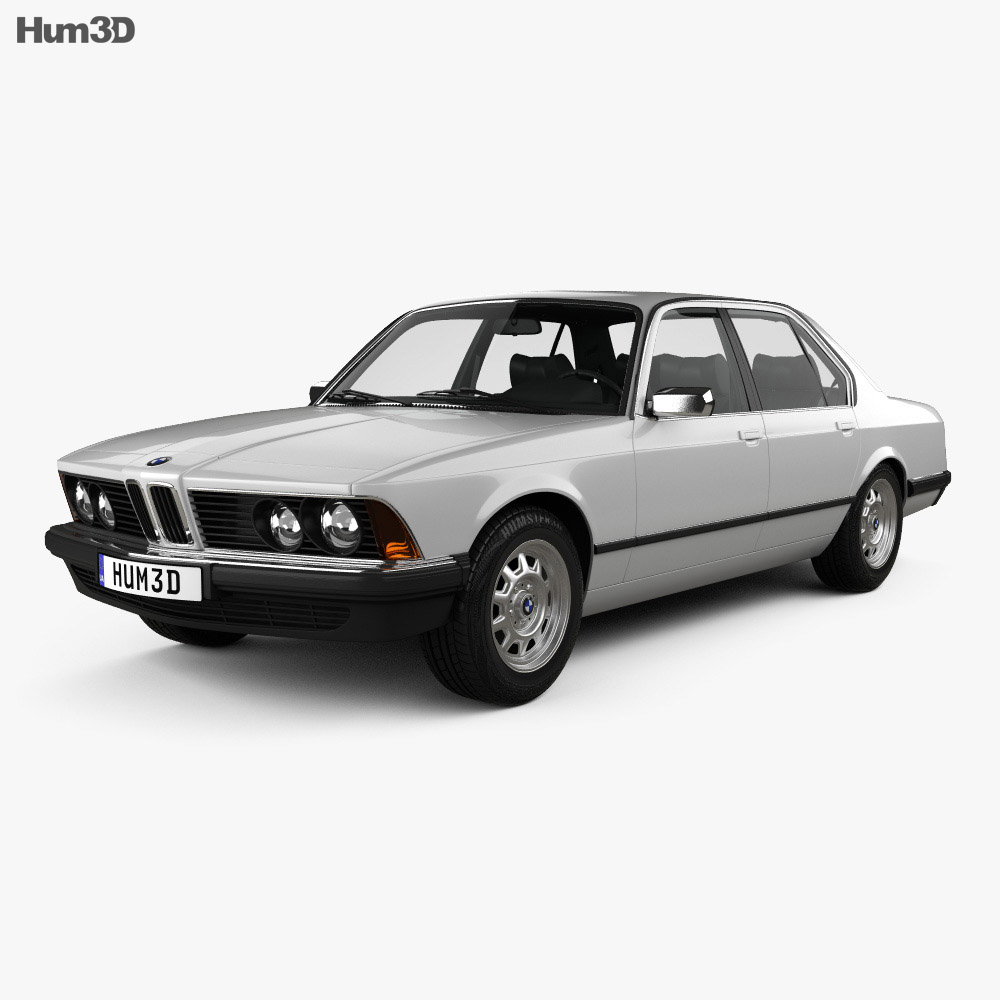 BMW 7 Series (E23) with HQ interior 1982 3d model