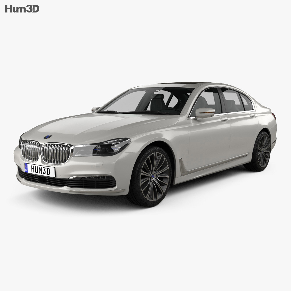 bmw 7 series g11 2015 3d model hum3d. Black Bedroom Furniture Sets. Home Design Ideas