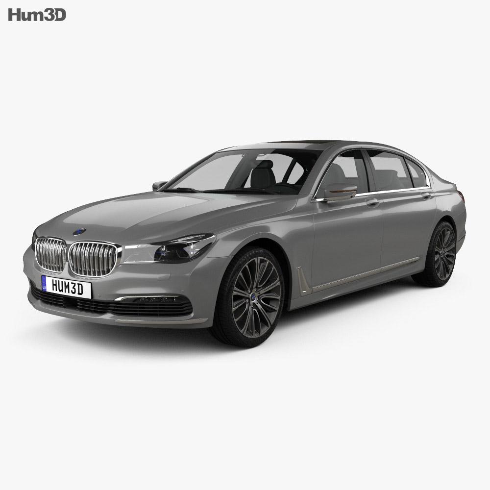 BMW 7 Series (G12) L 2015 3d model